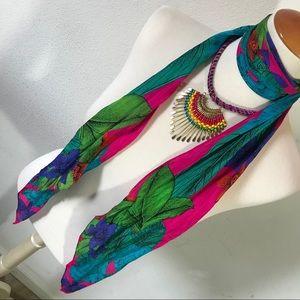Vintage Vibrant Silk Liz Claiborne Neck Scarf